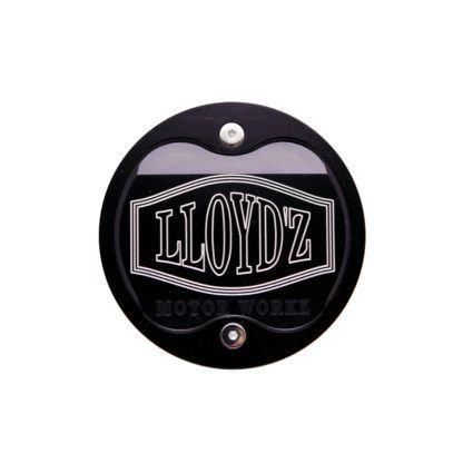 LLOYD'Z Cam Chain Cover - Black W/Contrast-Cut Finish