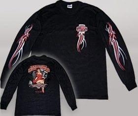 LLOYD'Z Pin-Up Girl Long-Sleeve Shirt - Black