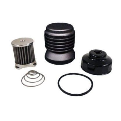 K&P Oil Filter - Black Anodized