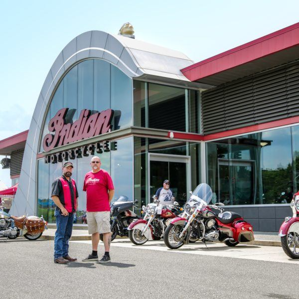 Lloyd Greer and Tim Sutherland, Owners of Indian Motorcycle Charlotte