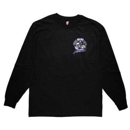 Thin Blue Line Across America Long-Sleeve T-Shirt, Black