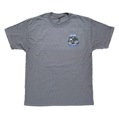 Thin Blue Line Across America Short-Sleeve T-Shirt, Grey